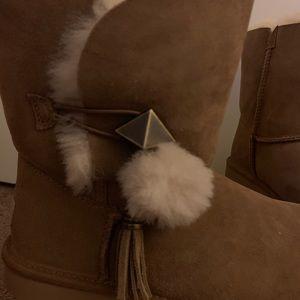 UGG Shoes - NIB UGG Chestnut Lilian II Pom Pom Boots